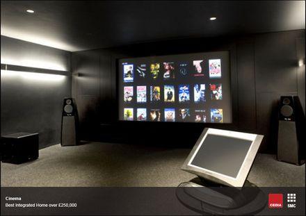 Комната с домашним кинотеатром